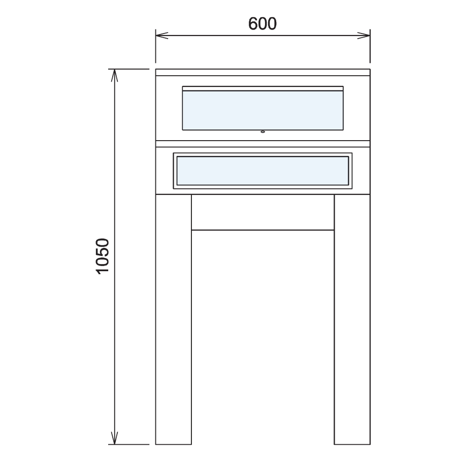 Wood Glass Display Cabinet CAD Drawing - 9