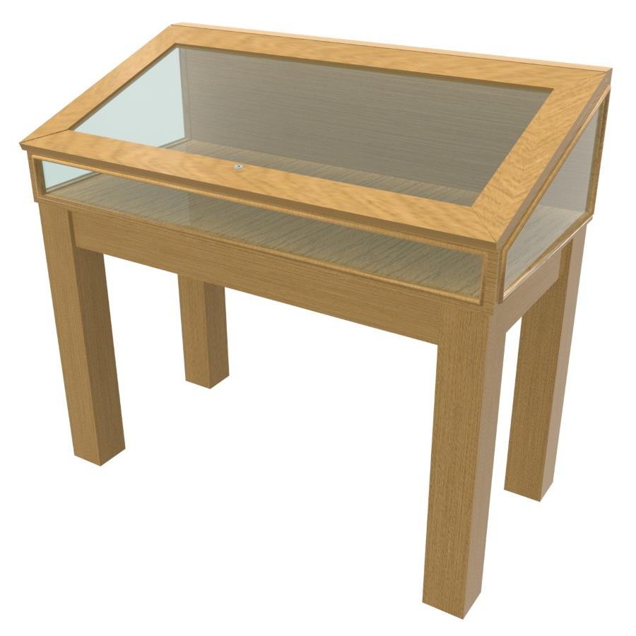Wood Glass Display Case - Design 6