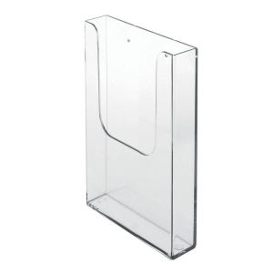 1/3 A4 Wall Mount Clear Leaflet Holder