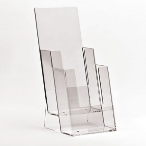 2x 1/3 A4 Stacked Clear Leaflet Holders