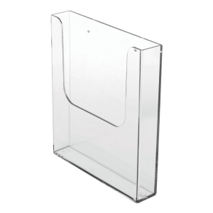 A5 Wall Mounted Clear Leaflet Holder