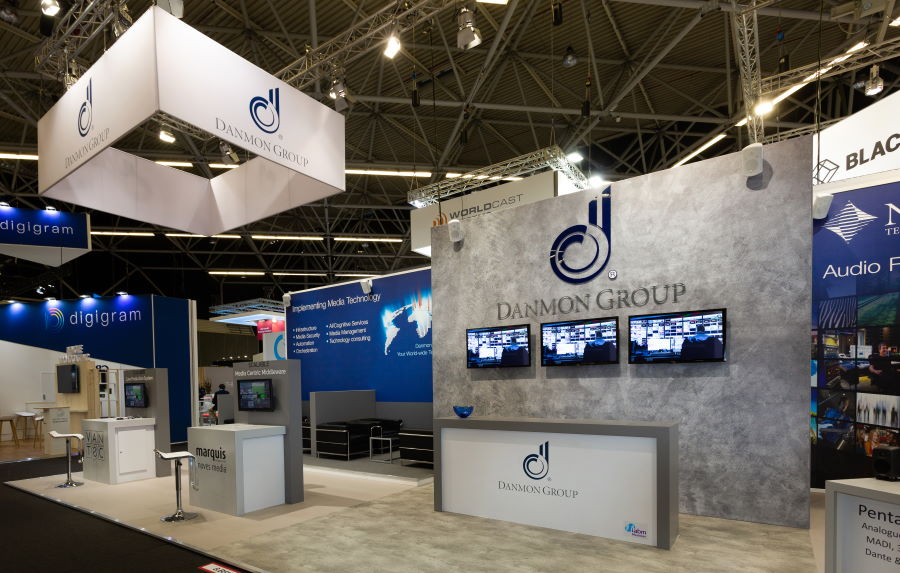 16m x 6m exhibition stand at IBC - 1