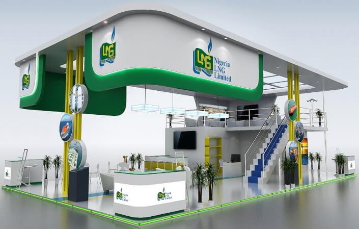 16m x 9m double decker exhibition stand design