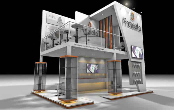 Double decker exhibition stand design 7m x 5m