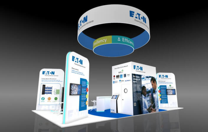 12m x 7m exhibition stand design