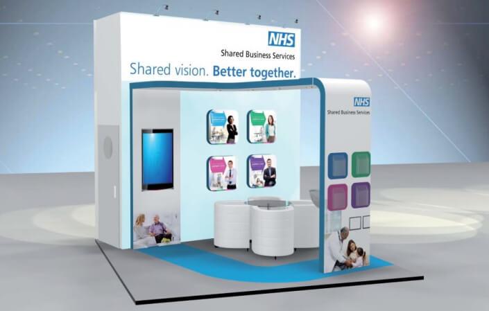 3m x 2m exhibition stand design