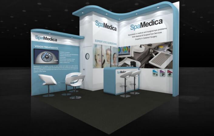 4m x 4m exhibition stand design