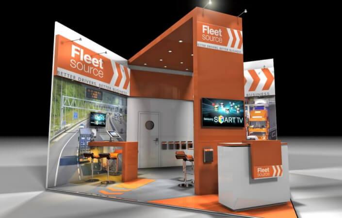 5.5m x 7m exhibition stand design