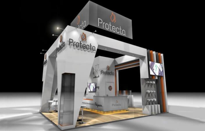 7m x 5m exhibition stand design