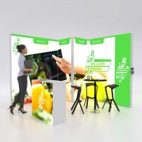 Lightbox exhibition stand CL3030 - PIXLIP GO
