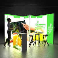 Lightbox exhibition stand CL3030 - Dark - PIXLIP GO