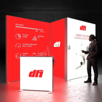Lightbox exhibition stand CS4020 - Dark - PIXLIP GO