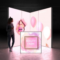 Lightbox exhibition stand EL2020 - Dark - PIXLIP GO