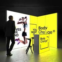 Lightbox exhibition stand EL3020 - Dark - PIXLIP GO