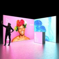 Lightbox exhibition stand EL4030 - Dark - PIXLIP GO
