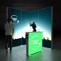 Lightbox exhibition stand ES2020 - Dark - PIXLIP GO