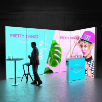 Lightbox exhibition stand ES4020 - Dark - PIXLIP GO