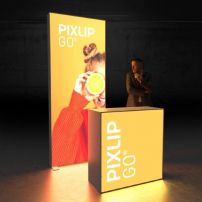 Lightbox exhibition stand HL10 - Dark - PIXLIP GO