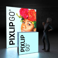 Lightbox exhibition stand HL20 - Dark - PIXLIP GO