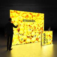 Lightbox exhibition stand HS30 - Dark - PIXLIP GO
