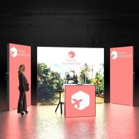 Lightbox exhibition stand RL5020 - Dark - PIXLIP GO