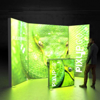 Lightbox exhibition stand RS3010 - Dark - PIXLIP GO