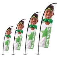 Zoom Plus Feather Flag range