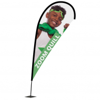 Zoom Plus Quill Flag
