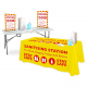 Folding Trestle Table Sanitising Station