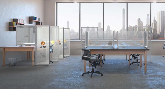 Office desk partitions