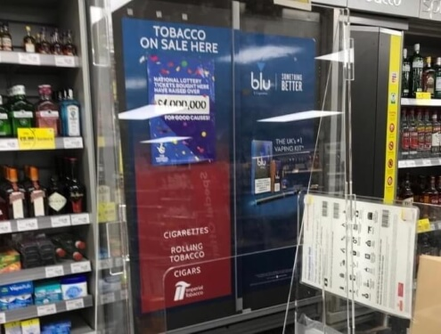 Protective screens for shop counters