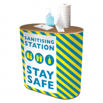 Double D Sanitising Station Counter