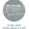 Single sided acrylic shelf for A1 poster board