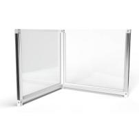 0.8m wide L-Shape Desk Divider Screens