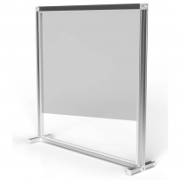 0.8m wide Straight Wall Desk Divider Screens