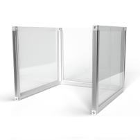 0.8m wide U-Shape Desk Divider Screens
