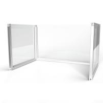 1.2m wide U-Shape Desk Divider Screens