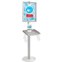 Economy sanitising station with face mask dispenser