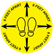 6 feet apart footprints floor sticker