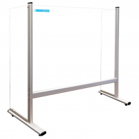 Protection screen for desk or counter with side walls - 1000 x 650mm
