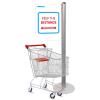 Social distancing queue divider for supermarket