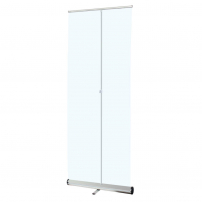 1m wide Clear Roller Banner Protective Screen