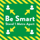 Be Smart Floor Graphic - Square