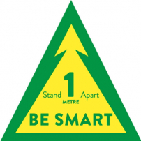Be Smart Floor Graphic - Triangle