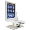 Desk or Wall Mount Sanitising Station with Shelf Messaging 2