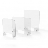 Frameless protection screens for desk or counter