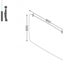 Hanging protection screen dimensions