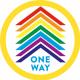 One Way Floor Sticker - Circle