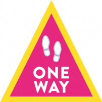 One Way Floor Sticker - Triangle