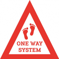 One Way System Floor Graphic